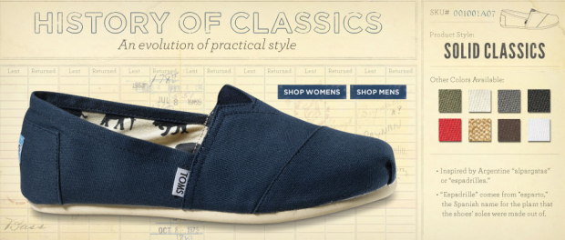 pretty nice e96dc 7e9a5 Toms Shoes: Buy One, Give One. Ai Ragazzi Del Mondo ...