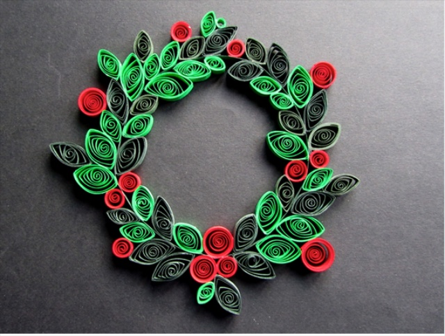 Decoration Christmas Handmade Quilling Paper