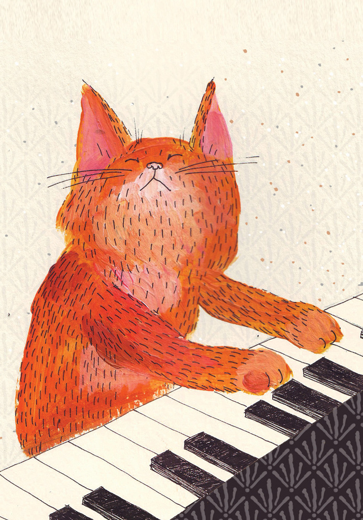lukava-illustration-red-cat-playing-piano