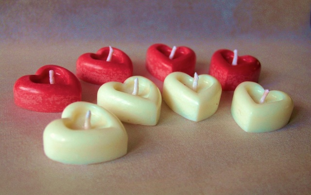 heart candles-valentines day love candles-candles-heart