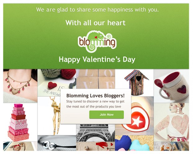 Happy Valentine for Blommers and Bloggers