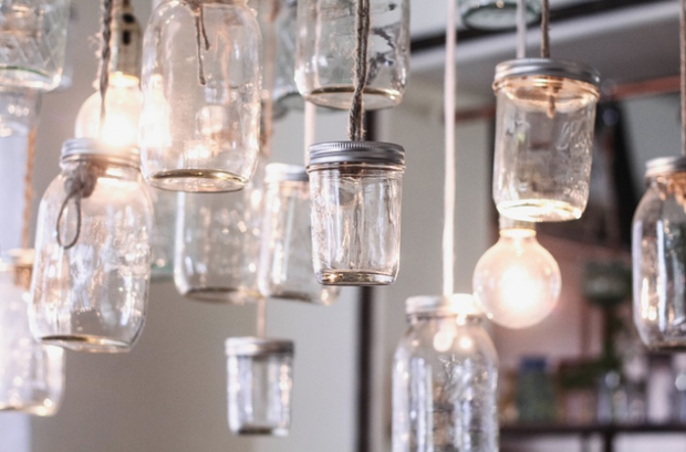 jars chandelier-DIY chandelier-DIY jars chandelier