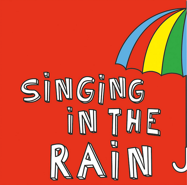 Singing In The Rain Shower Curtain Red