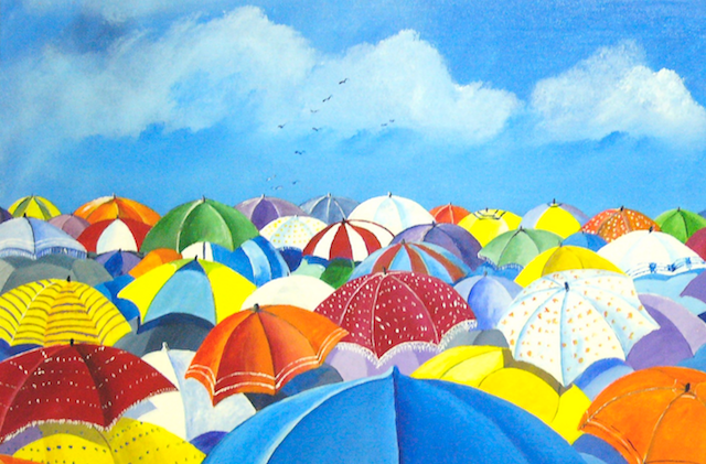 colourful unbrellas-umbrella