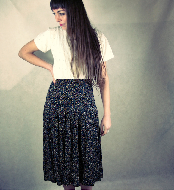 flower pattern skirt-flower skirt-vintage skirt-vintsge flower pattern clothes