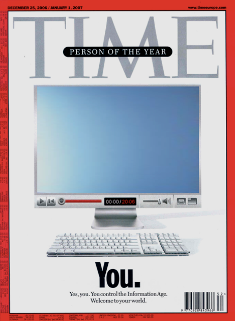 most influential person-person of the year-time magazine- Time cover 2006-You are the most influential person-power of the social individual