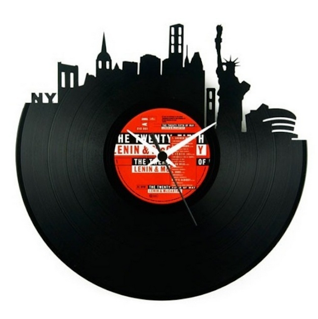 Vinyls decorations and clocks blomming blog about arts for Vinyl records decorations for wall
