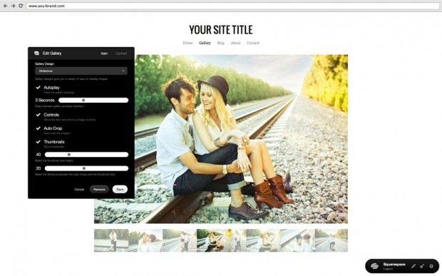 squarespace site content how to choose