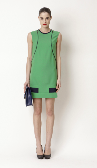green-short-woman-dress